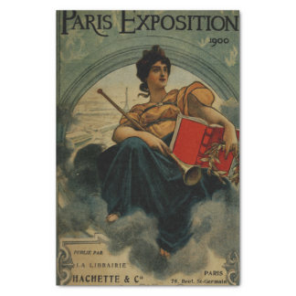 "Paris Exposition 1900 - vintage French ad art 10"" X 15"" Tissue Paper"