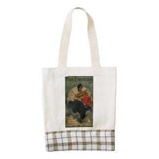 Paris Exposition 1900 - vintage French ad art Zazzle HEART Tote Bag