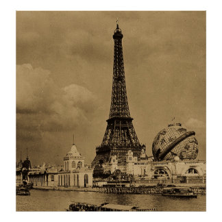 Paris Exposition Eiffel Tower from the Seine Poster