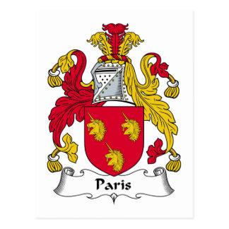 Paris Family Crest Postcard