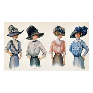Paris Fashion 1910 Business Card