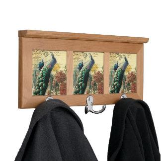 paris fashion girly flower vintage peacock coat rack
