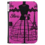 París femenina en rosas fuertes