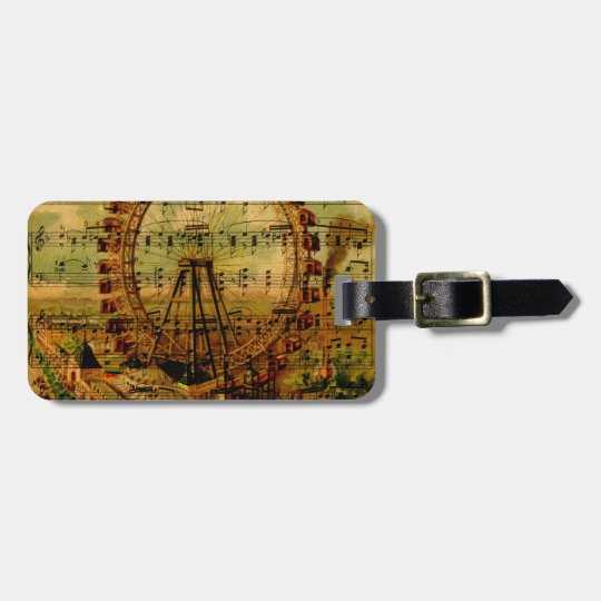 Paris Ferris Wheel Bag Tag