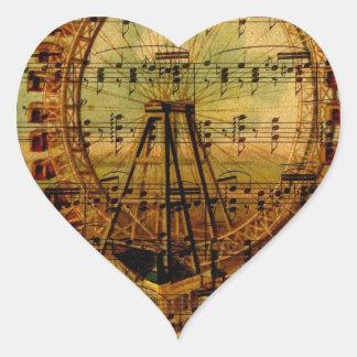 Paris Ferris Wheel Heart Sticker