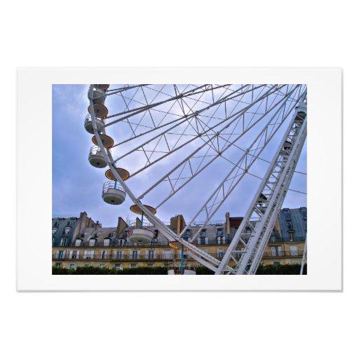 Paris Ferris Wheel Photographic Print
