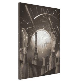 Paris Fireworks Canvas Print