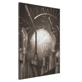 Paris Fireworks Canvas Print