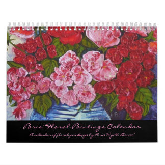 Paris' Floral Paintings Calendar. Calendar