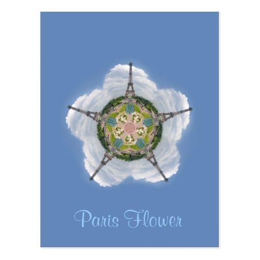 Paris Flower Postcard