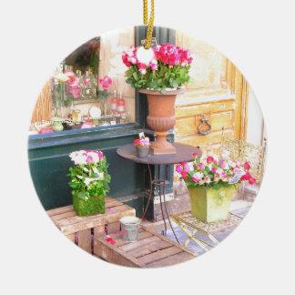 Paris Flower Shop Ceramic Ornament