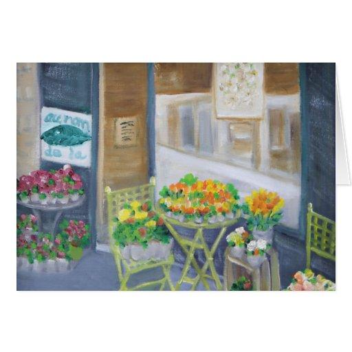 PARIS FLOWER SHOP GREETING CARD