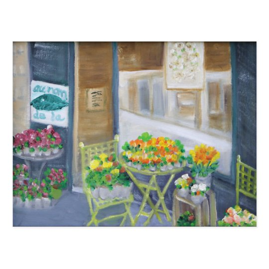 PARIS FLOWER SHOP POSTCARD