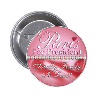 Paris for President Buttons