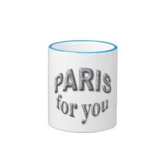Paris for You Ringer Mug