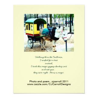 París-Foto-Impresión-Burro-Carro