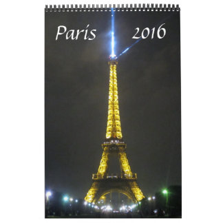 paris france 2016 calendar