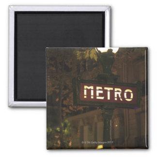 Paris, France. 2 Inch Square Magnet