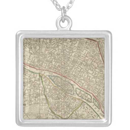 Paris France 2 Silver Plated Necklace