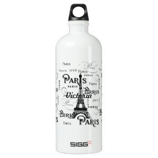 Paris France and Souvenirs Water Bottle