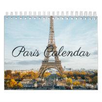 Paris France beautiful photographs Calendar