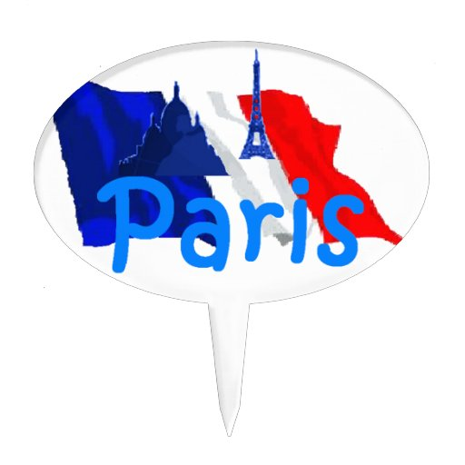 Paris France Cake Toppers