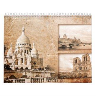 Paris, France Calendar calendar