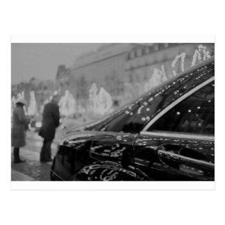 Paris France Champs Elysées Back LCA lomographic a Postcard