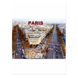 Paris France Champs Elysees (St.K) Postcard