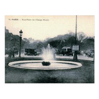 Paris, France, Champs-Élysées, Vintage Postcard
