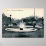 Paris, France, Champs-Élysées, Vintage Poster