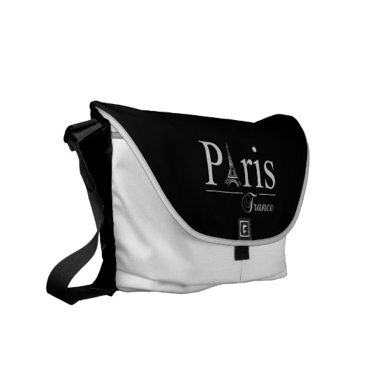 Paris France custom messenger bag
