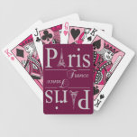 Paris France custom playing cards