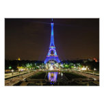Paris, France - Eiffel at night Poster