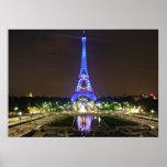 Paris, France - Eiffel at night Print