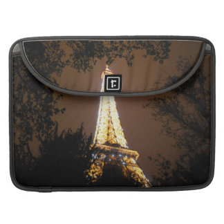 Paris, France - Eiffel Tower at Night MacBook Pro Sleeve