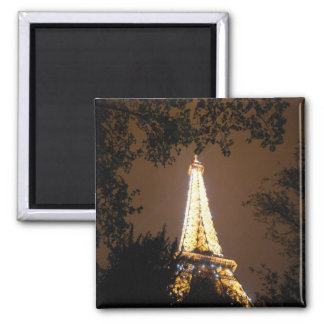 Paris, France - Eiffel Tower at Night Magnet