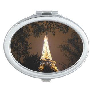 Paris, France - Eiffel Tower at Night Makeup Mirror