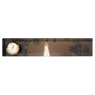 Paris, France - Eiffel Tower at Night Name Plate