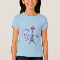 Paris, France, Eiffel Tower, Bow, Cool T-Shirt