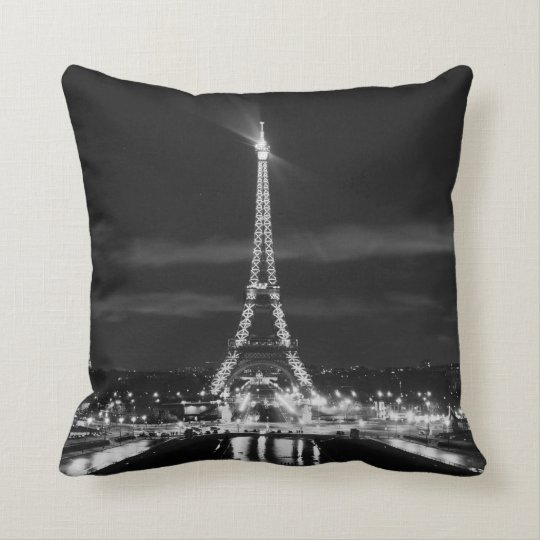 PARIS France EIFFEL TOWER City of Lights Pillow