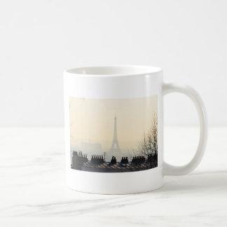 Paris France Eiffel tower on a foggy day Coffee Mug