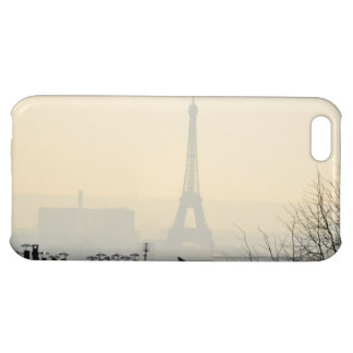 Paris France Eiffel tower on a foggy day iPhone 5C Cases