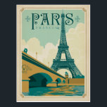 "Paris France - Eiffel Tower Postcard<br><div class=""desc"">Anderson Design Group is an award-winning illustration and design firm in Nashville,  Tennessee. Founder Joel Anderson directs a team of talented artists to create original poster art that looks like classic vintage advertising prints from the 1920s to the 1960s.</div>"