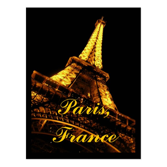 Paris France Eiffel Tower Postcard