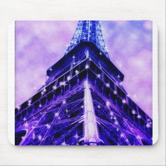 Paris France Eiffel Tower purple Mouse Pad