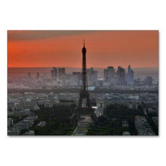 Paris France Eiffel Tower Skyline Card