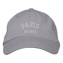 PARIS, FRANCE EMBROIDERED BASEBALL CAP