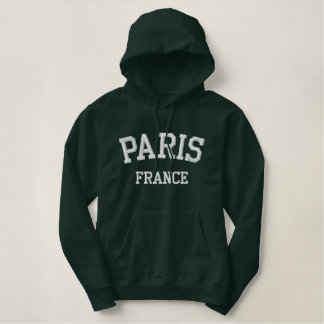 Paris France Embroidered Hoodie