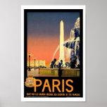 Paris France Europe Vintage Travel Poster
